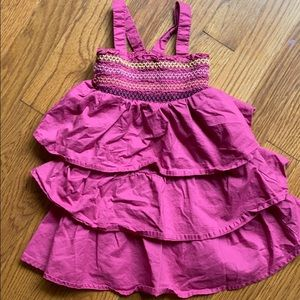 Cherokee pink tiered dress